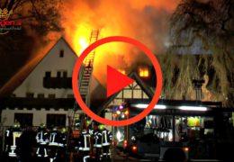 Vollbrand! China Restaurant und leerstehendes Hotel in Flammen
