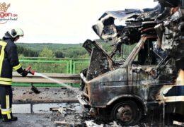 Reisemobil wurde Raub der Flammen
