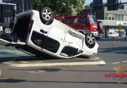 Unfall an Kochs Ecke sorgte für Verkehrsbehinderungen