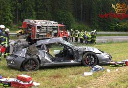 Crash mit Porsche GT3 forderte zwei Schwerverletzte